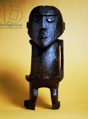 Wooden statue of Captain James Cook, Island of Aitutaki, Cook Islands, New Zealand, Maori art