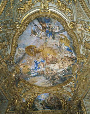 Vault of Gilded Gallery, Palazzo Carrega-Cataldi, Genoa, Italy, 16th-18th centuries