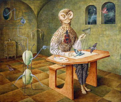 Creation of the bird, 1957, by Remedios Varo (1908-1963). Mexico, 20th century.