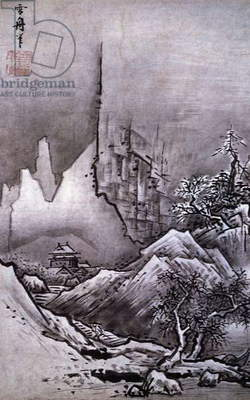 Winter Landscape, by Toyo Sesshu (1420-1506), ink and colour on paper, Japan, Japanese Civilisation, Muromachi period, 15th century
