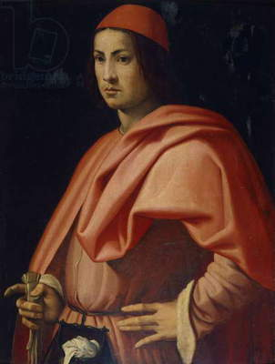 Portrait of a Florentine gentleman, by Jacopo da Pontormo (1494-1557).