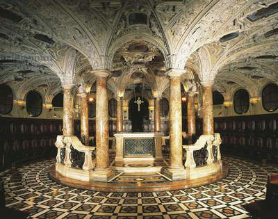 Italy, Milan Cathedral, Circular crypt designed by Pellegrino Tibaldi known as Pellegrini