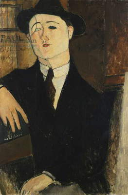 Paul Guillaume Seated by Amedeo Modigliani (1884-1920)