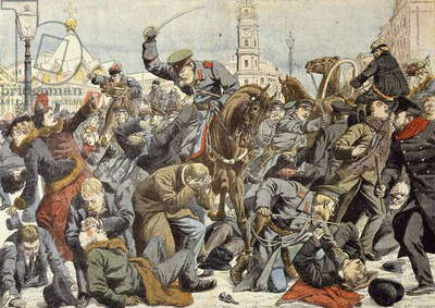 Liberal movement in Russia, fighting in St Petersburg, Russian Revolution of 1905, Russia, 20th century
