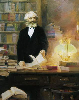 Karl Marx in his studio, 1875
