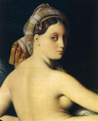 Great Odalisque, 1814, detail