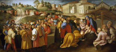 Adoration of Magi or Epifania Benintendi, by Jacopo da Pontormo (1494-1557)