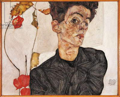 Self-Portrait with Fruit, 1912