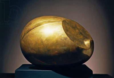 The newborn (Le nouveau ne'), ca 1923, by Constantin Brancusi (1876-1957), bronze sculpture. Romania, 20th century.