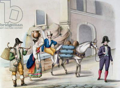 Water Carriers at Apostolic Palace, Italy, 19th century