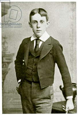 Aubrey Beardsley, at the age of 13 years (photo)