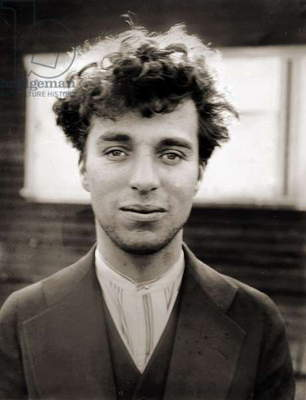 Portrait of Charlie Chaplin aged 27, 1916 (sepia photo)