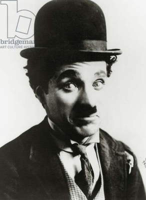 Portrait of Charlie Chaplin (b/w photo)