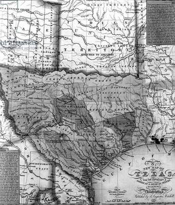 Mitchell's Map of Texas, 1835 (litho) (detail of 241191)