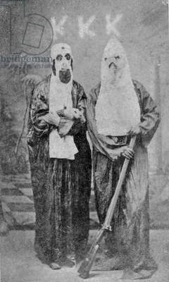 Two Members of the Ku Klux Klan (1866-71) (b/w photo)