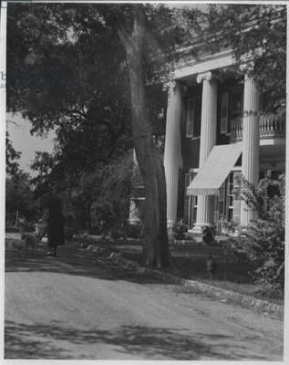 Colonial Home in Austin, Texas, 1935-36 (b/w photo)
