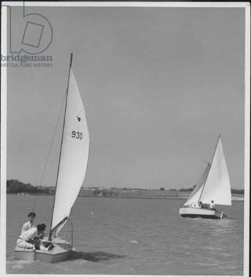 Sailboats Moving Away, 1935-36 (b/w photo)