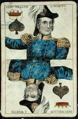 Playing card: King of Spades (colour litho)