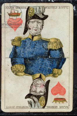 Playing card: King of Hearts (colour litho)