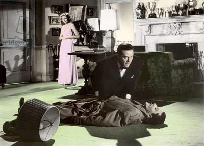 DIAL M FOR MURDER, 1954 directed by ALFRED HITCHCOCK Grace Kelly and Ray Milland (photo)