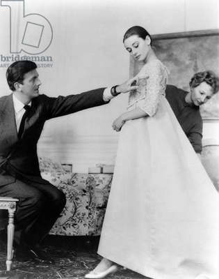 Hubert by Givenchy with Audrey Hepburn Audrey Hepburn in the 50's (b/w photo)