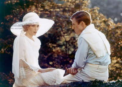Gatsby le Magnifique THE GREAT GATSBY by Jack Clayton with Robert Redford and Mia Farrow, 1974 (photo)