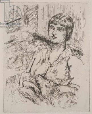 Woman with Dog, illustration from