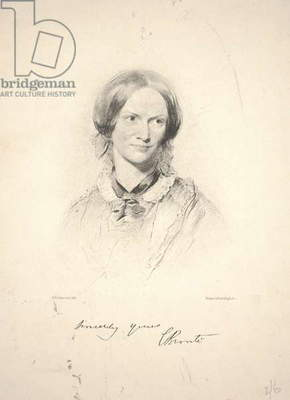 Charlotte Brontë, engraved by Walker & Boutall, 1850 (collotype)