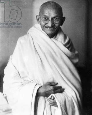 Mahatma Gandhi (b/w photo)