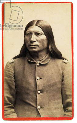 Sharp Nose, Arapahoe War Chief Wearing US Army Officer's Blouse 1881