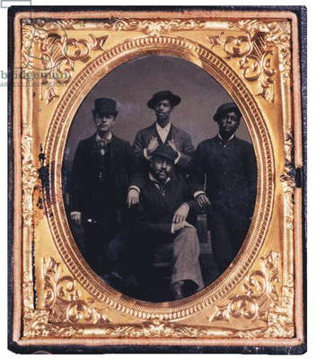 Group of well dressed young black men with cigars, last quarter 19th Century