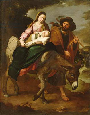 The Flight into Egypt, c.1647/50 (oil on canvas)