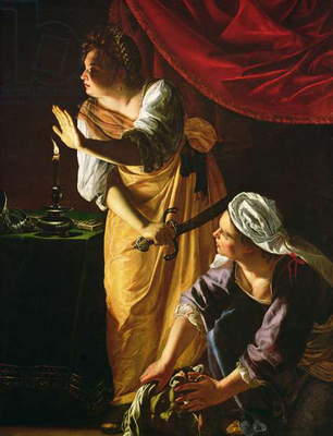 Judith and Maidservant with the Head of Holofernes, c.1625 (oil on canvas)