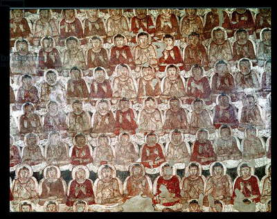 A Multitude of Seated Buddhas, from the interior of Cave 2 (fresco) (see also 162632)