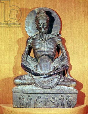 Seated Buddha in meditation, Greco-Buddhist style, 1st-4th century (bronze)