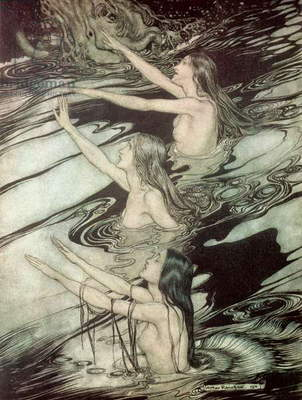 The Rhine Maidens, from 'Siegfried and The Twilight of the Gods' by Richard Wagner, 1911