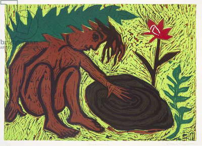 Homecoming, 1992 (linocut)