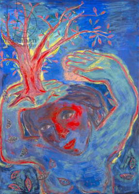 Taking Root and Falling Leaves, 1984 (oil on canvas)