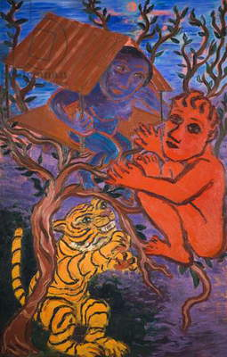 Tiger, Tiger, 1990 (oil on canvas)