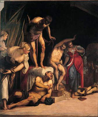 Saint Roch Curing the Plague Victims (San Rocco risana gli appestati), by Jacopo Robusti known as Tintoretto, 1549, 16th Century, oil on canvas, 307 x 463 cm