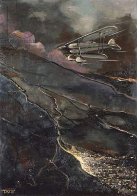Night Fly, by Tato, 1930, 20th Century, oil on canvas