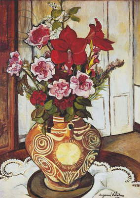 Flowers, by Suzanne Valadon, c. 1920, 20th Century, oil on canvas