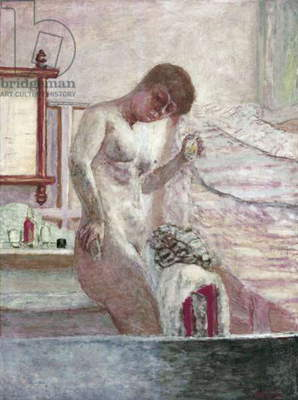Nude standing at the toilette, by Pierre Bonnard, 1932, 20th Century, oil on canvas, 120 x 90 cm