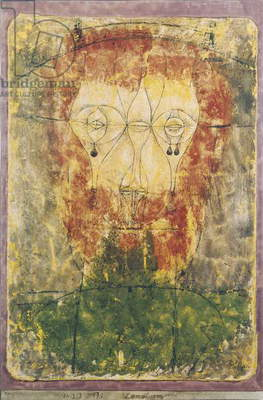 The Man with Tears (L'uomo con le lacrime), by Paul Klee, 1923, 20th Century