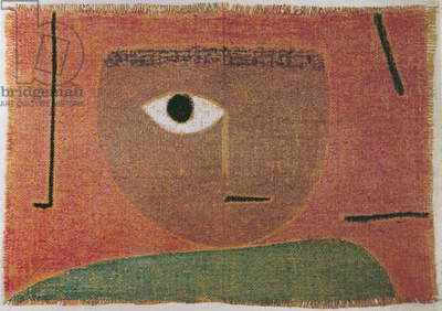 The Eye (L'occhio), by Paul Klee, 1938, 20th Century, pastel on jute, 45 x 64,5 cm