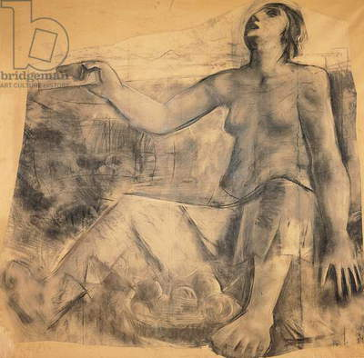 Ceres (Cerere) (charcoal on paper mounted on canvas)