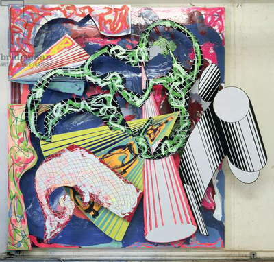 Cricche, Crocche & Manico D'Uncino, 1986 (mixed media on canvas)