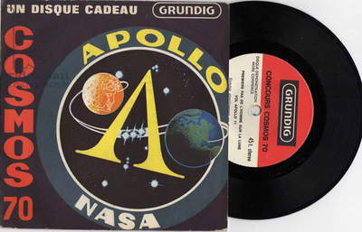 45 tours publiciaitre Grundig Apollo Nasa