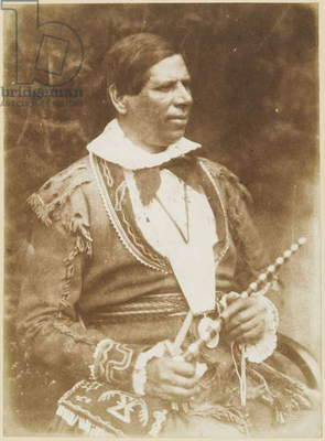 Peter Jones (Kahkewaquonaby), 1845 (calotype)