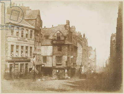 Edinburgh High Street with John Knox's House, c.1843-48 (calotype)
